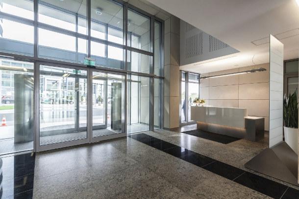 building lobby entrance