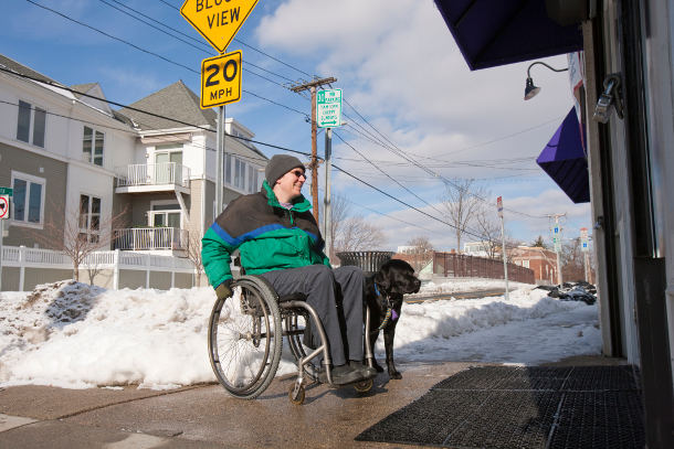 wheelchair access in winter