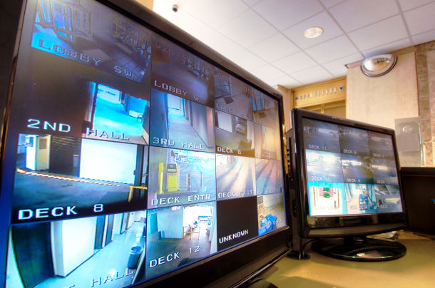 video surveillance system monitors