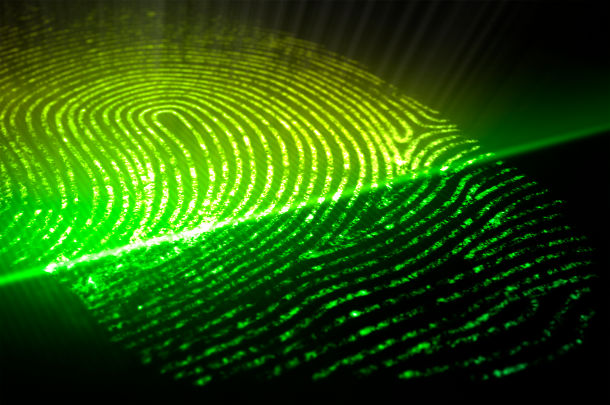 fingerprint authentication scan closeup
