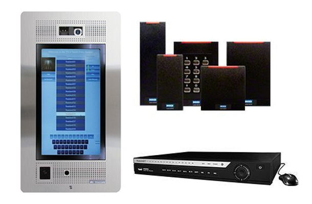 Products featured in this project include the Mircom TX3 Touch-F22 telephone access system; HID card reader; and WatchNet 8 Channel PoE NVR.